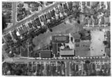 Aerial view of Malabar Street Elemantary School, Boyle Heights, California